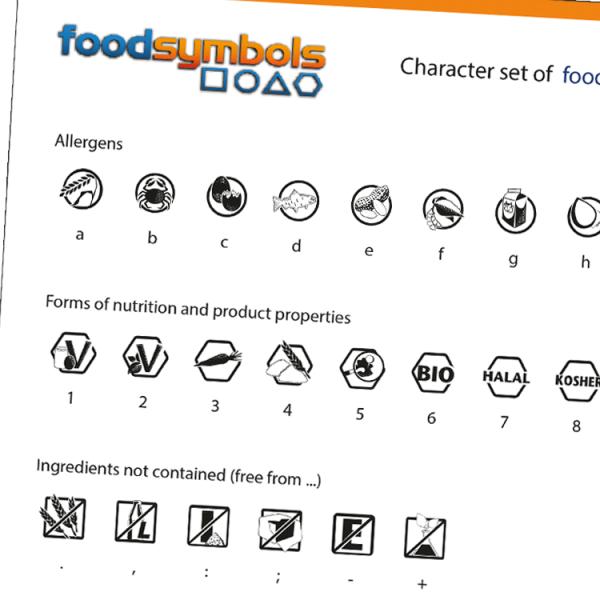 foodsymbols Zeichensatz